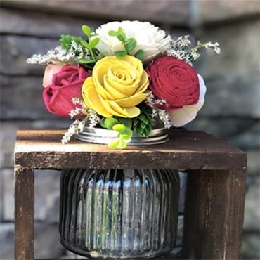 Wood Floral Arrangement